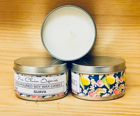 Guava Soy Wax Candles Holiday Gift Birthday Gifts Under 20