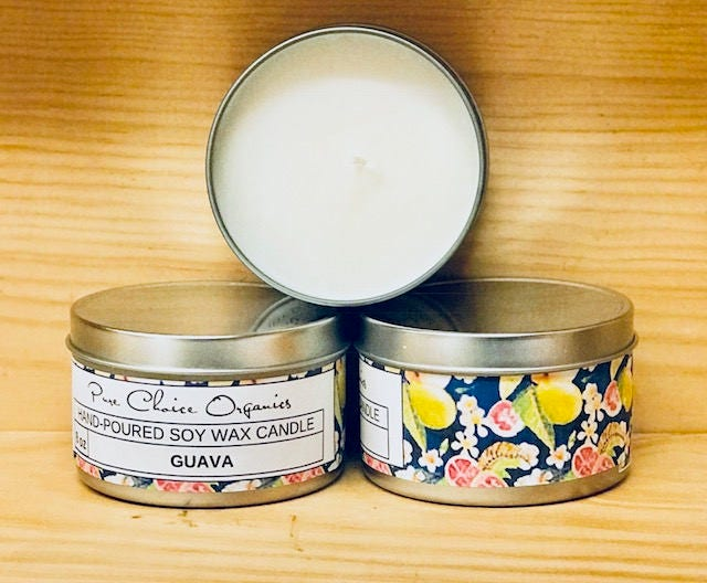 Guava Soy Wax Candles Holiday Gift