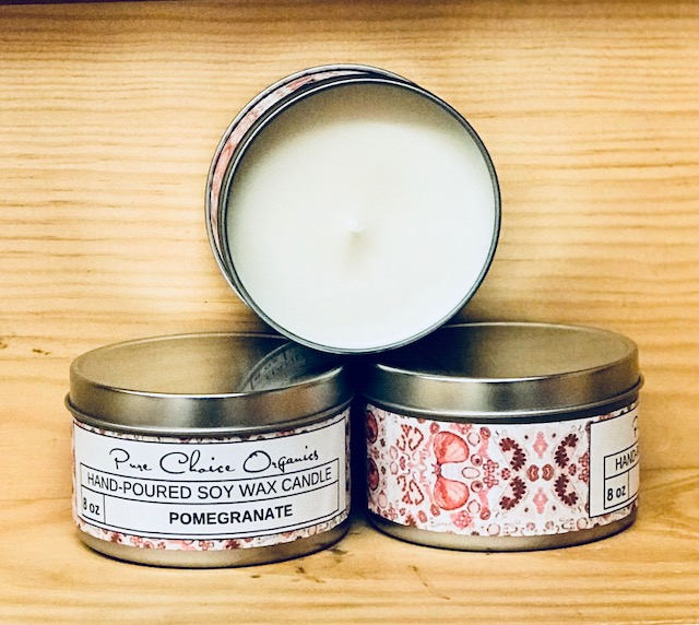 Pomegranate Soy Wax Candles Holiday Gift