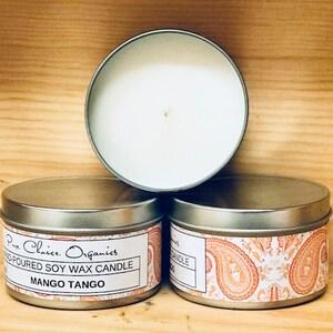 Mango Tango Soy Wax Candles Holiday Gift
