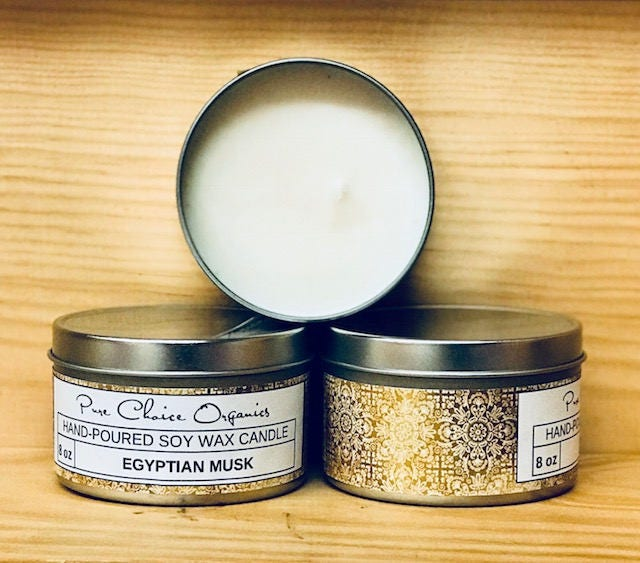 Egyptian Musk Soy Wax Candles Holiday Gift