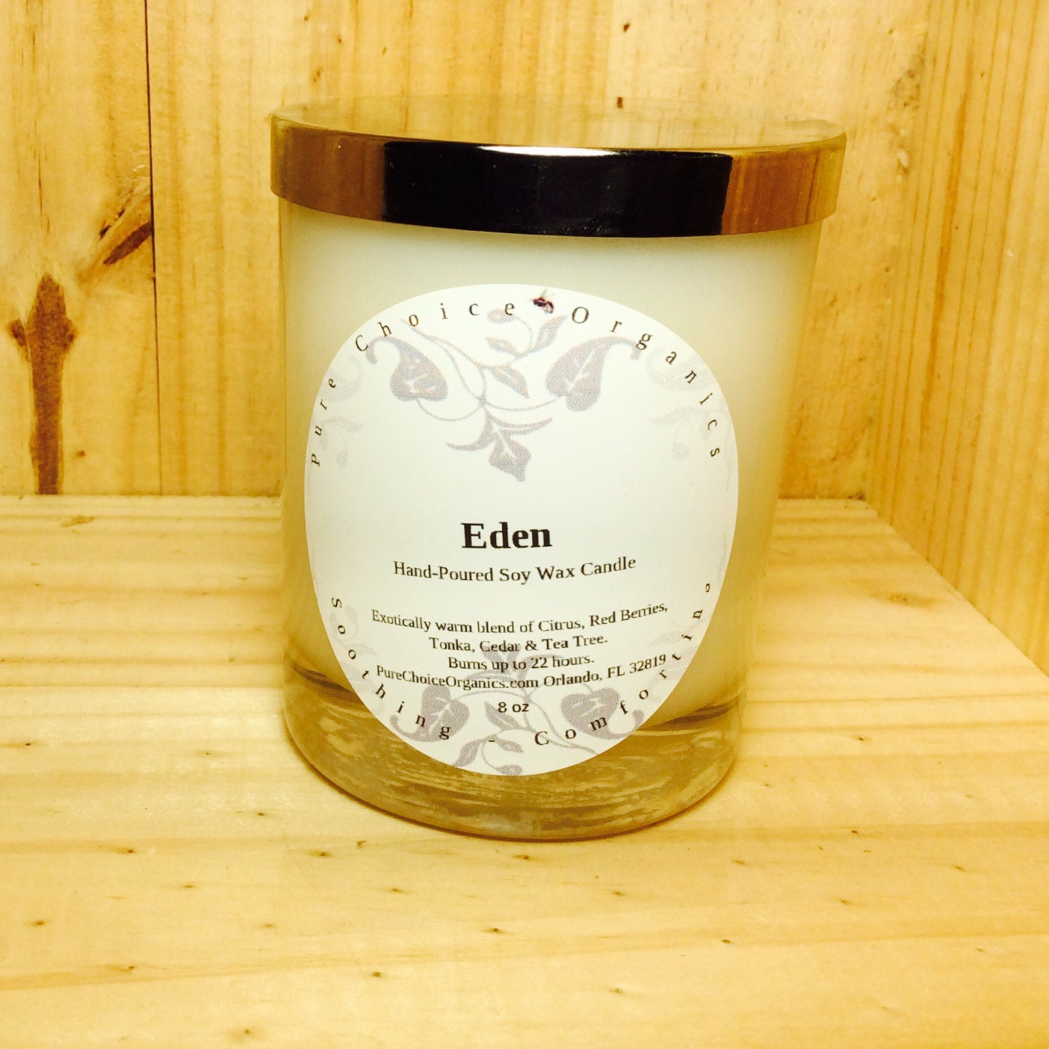 Eden Soy Wax Candles Holiday Gift