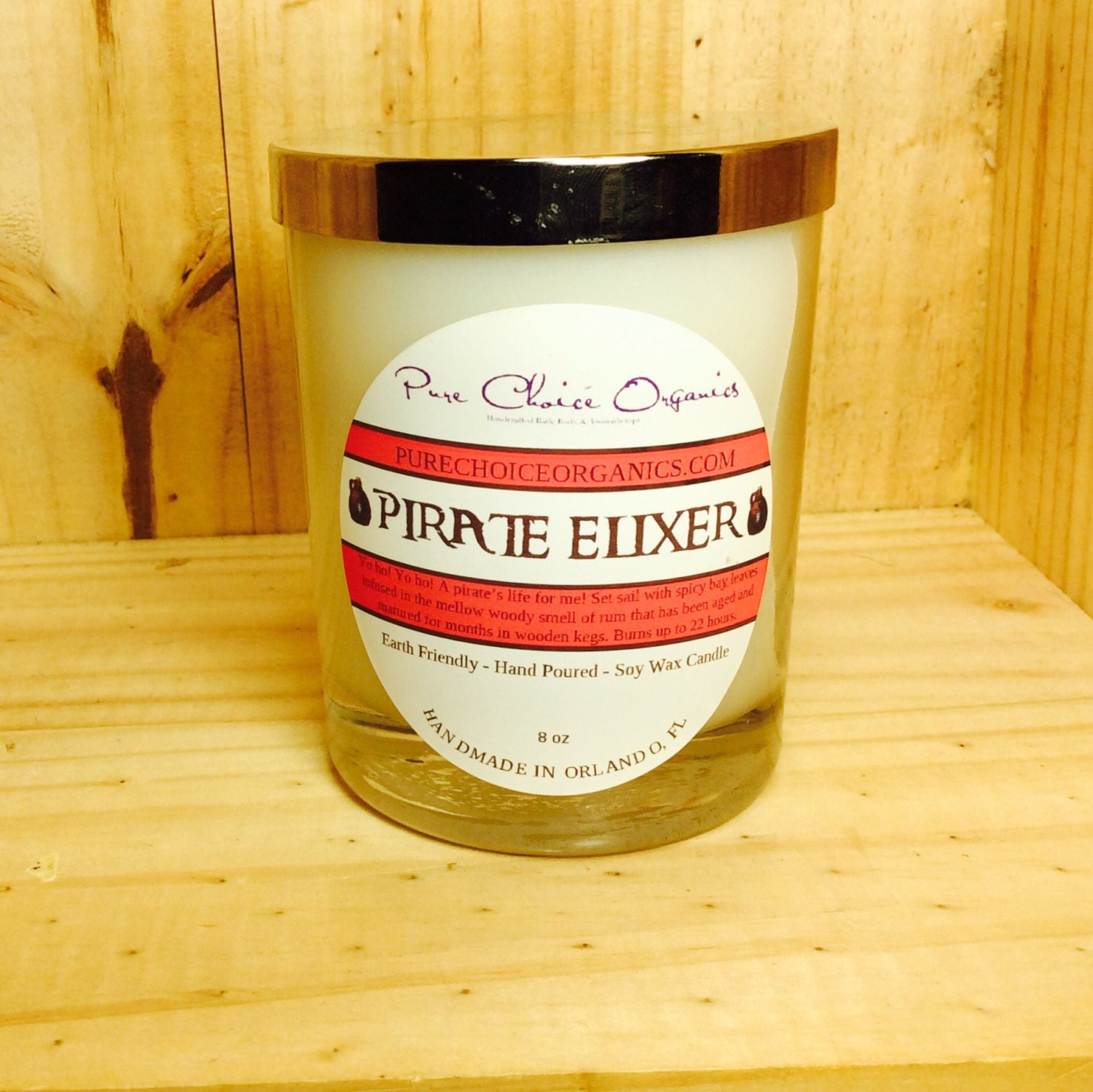 Pirate Elixir Soy Wax Candles Holiday Gift