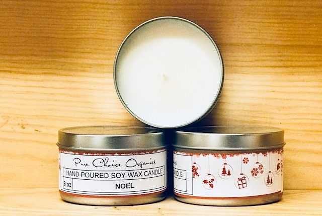Noel Soy Wax Candles Holiday Gift