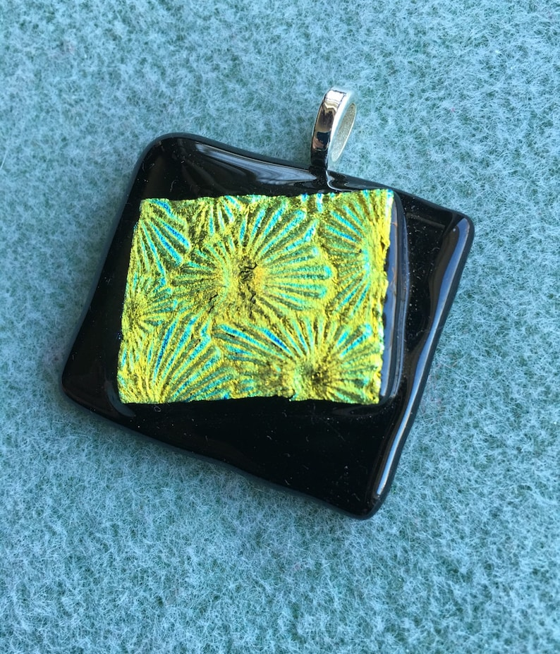 Dichroic fused glass pendants image 0