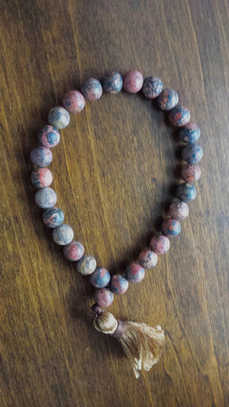 Handmade Mala bead/Buddhist prayer beads bracelet image 1