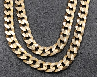 fe4a8907e 14K Yellow Gold Curb Link Chain 14K Curb Link Necklace 14K Curb Chain  Italian Gold Italy
