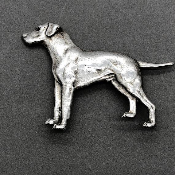 Richard Bishop Sterling Silver Dog Brooch Richard… - image 1