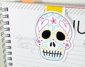 Day of the Dead Calavera Sugar Skull Large Magnetic Bookmark