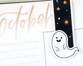 Boo! Cute Ghost Halloween Large Magnetic Bookmark