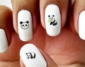 Panda - Water Slide Nail Decals