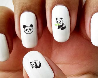 Panda - Water Slide Nail Decals with Dice