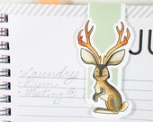 Jackalope Cute Cryptid Large Magnetic Bookmark