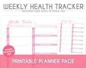 Printable Weekly Health Tracker - Cherry Blossom Theme - Plan, Track, & Organize Your Life!