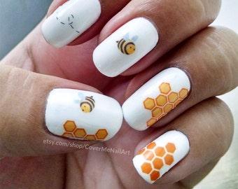Honeybee - Water Slide Nail Decals
