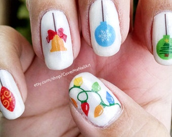 Christmas Ornaments - Water Slide Nail Decals