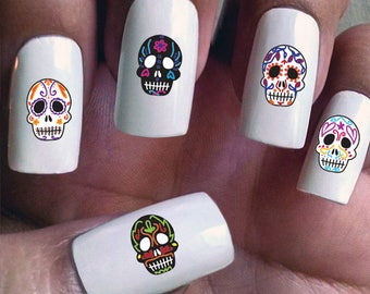 Day of the Dead - Water Slide Nail Decals with Sugar Skulls