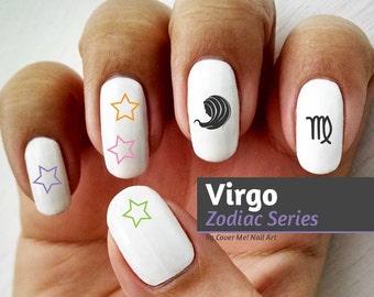Virgo Zodiac - Water Slide Nail Decals
