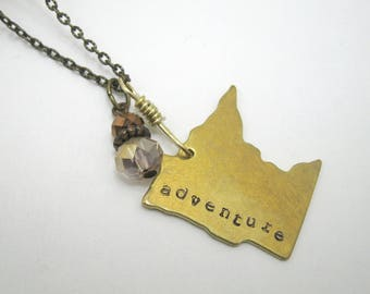 Minnesota necklace, Large Minnesota charm necklace, gold minnesota necklace, MN Nice, MN necklace, Minnesota pendant, Minnesota jewelry