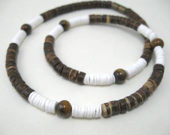 Tigers eye Mens necklace, mens choker tiger eye necklace necklace boys necklace tigers eye, mens tigers eye necklace, surfer necklace mens