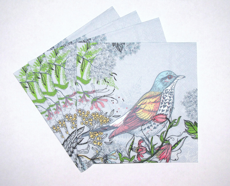 4 Single Paper Napkins for Decoupage Santa/'s Workshop Christmas