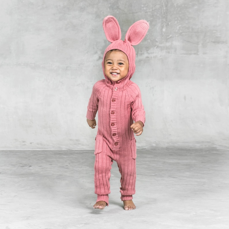 14c9cbe3a BUNNY SUIT for Baby and Toddler Costume Animal PJs Unique | Etsy