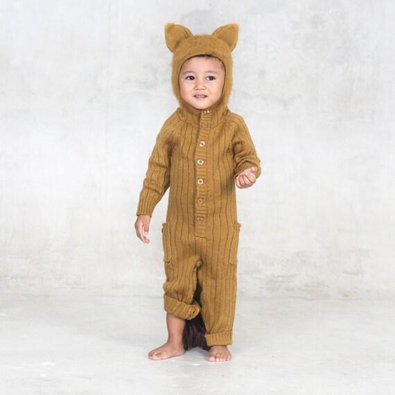352593421943e Baby Lion Onesie - Cozy Baby Romper - Handmade Knit Animal Toddler Romper -  Blamo Baby Lion - Animal PJ's - Comfy Kids Dress Up Play Costume