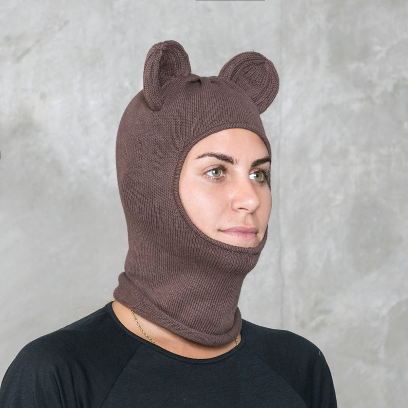 BEAR BALACLAVA Brown Bear Mask for Men and Women  cf9fb35eb