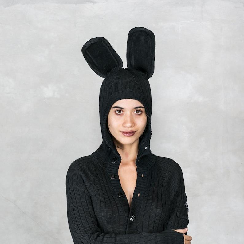 BLACK BUNNY Costume Adult Jumpsuit for Men   Women Cotton  81e0999d4