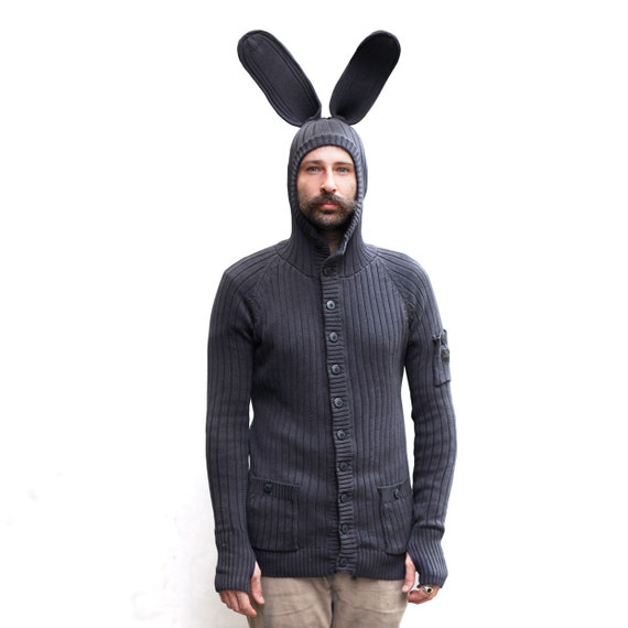 Bunny Hoodie Easter Bunny Costume For Men And Women Etsy