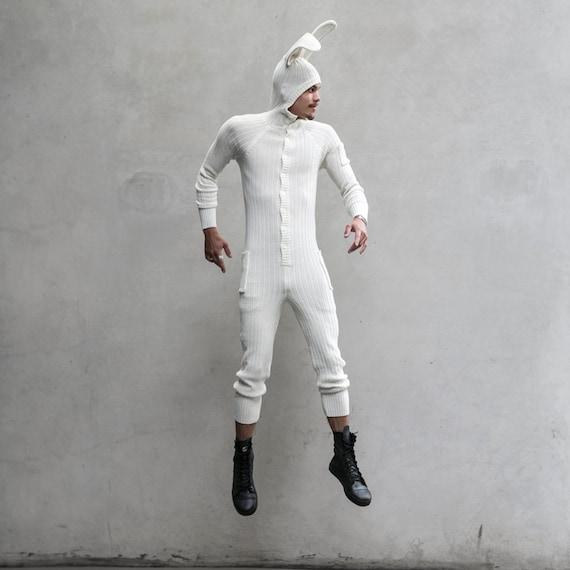 26a433658 WHITE RABBIT Onesie Men's and Women's Easter Bunny | Etsy