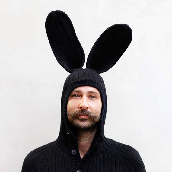 Bunny Hoodie For Men And Women Warm Winter Hoody Cozy Etsy