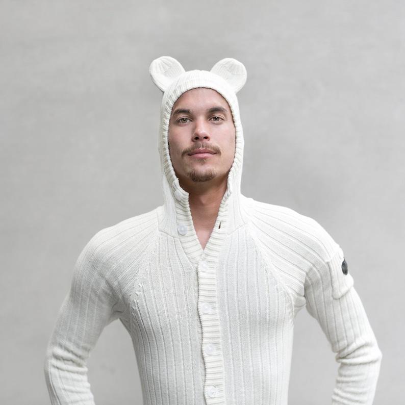 POLAR BEAR Suit for Adults Costume Jumpsuit Festival  d763b1080ac6
