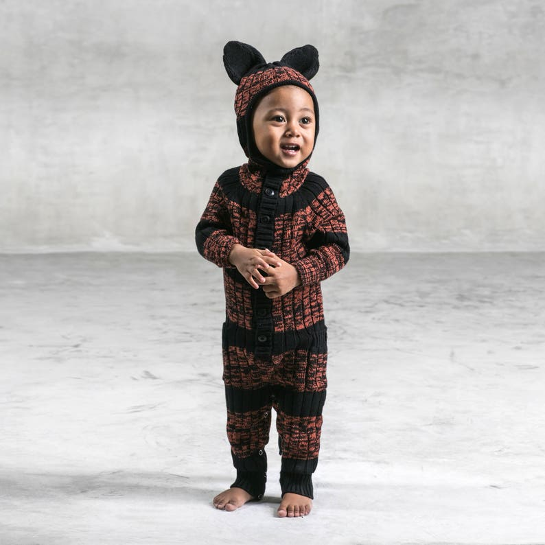 c8f70ff38 Tiger Suit for Baby and Toddler Handmade Knit Animal Romper