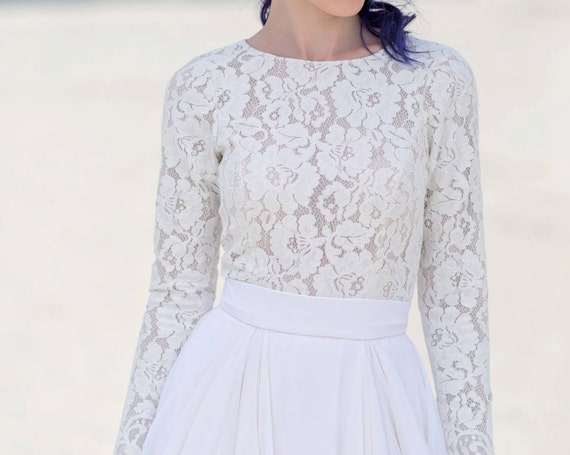 Eirene - long sleeve bridal top
