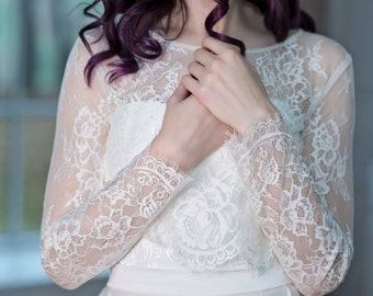 Primrose - floral bridal lace cover up