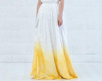 Linnea - lace boho wedding skirt