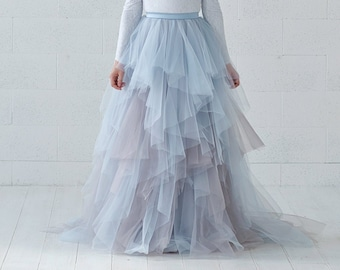Aella - ruffled bridal skirt in watercolor design