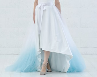Vivian - detachable tulle half skirt with optional ombre dip dye