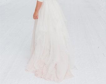 Maegan - chiffon bridal skirt