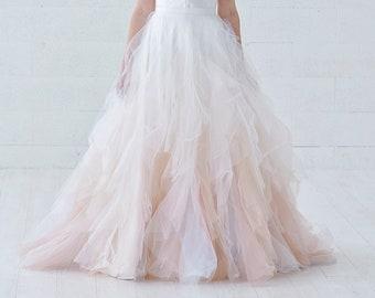 Nayeli - watercolor ombre wedding skirt