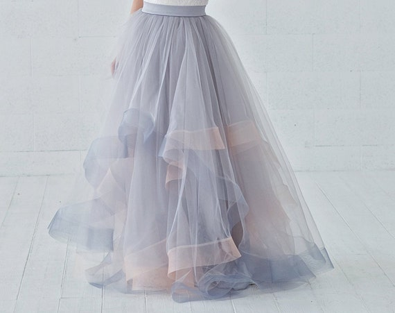 Eleonor - tulle wedding skirt with horsehair braid