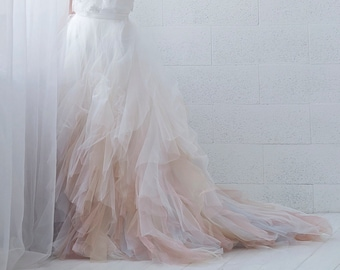 Nayeli - watercolor ombre wedding skirt