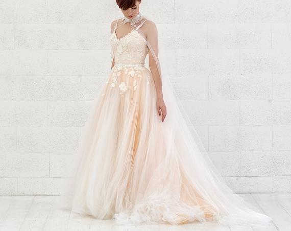 Dahlia - 3D floral wedding dress