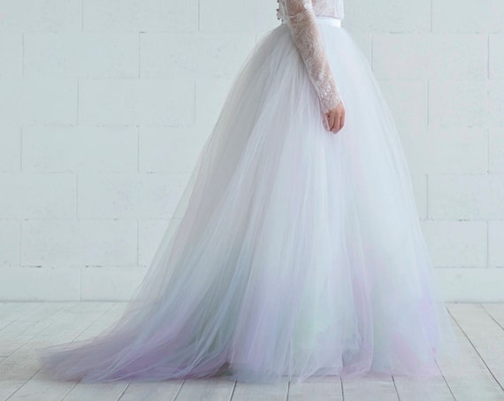 Aurora - northern lights bridal skirt
