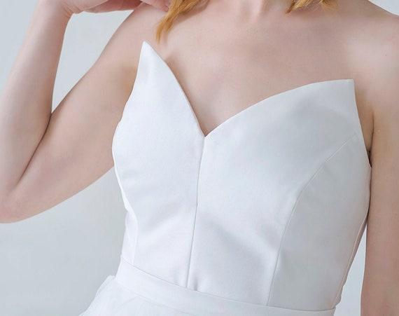 Nayeli - mikado satin bridal corset