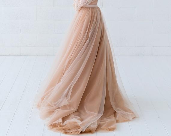 Soraya - voluminous dual color wedding skirt