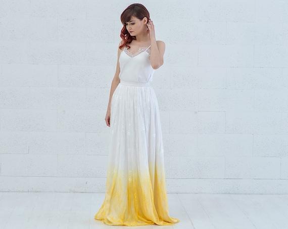 Linnea -  marigold or custom ombre wedding dress