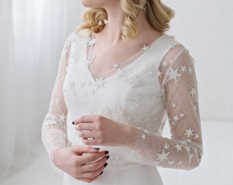 Nova - bridal cover up with stars