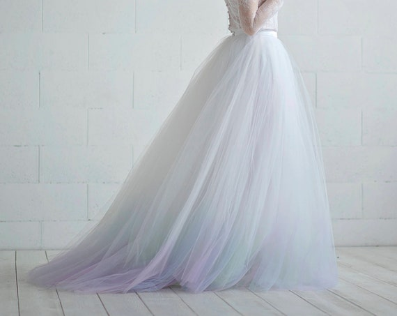 Aurora - northern lights bridal skirt